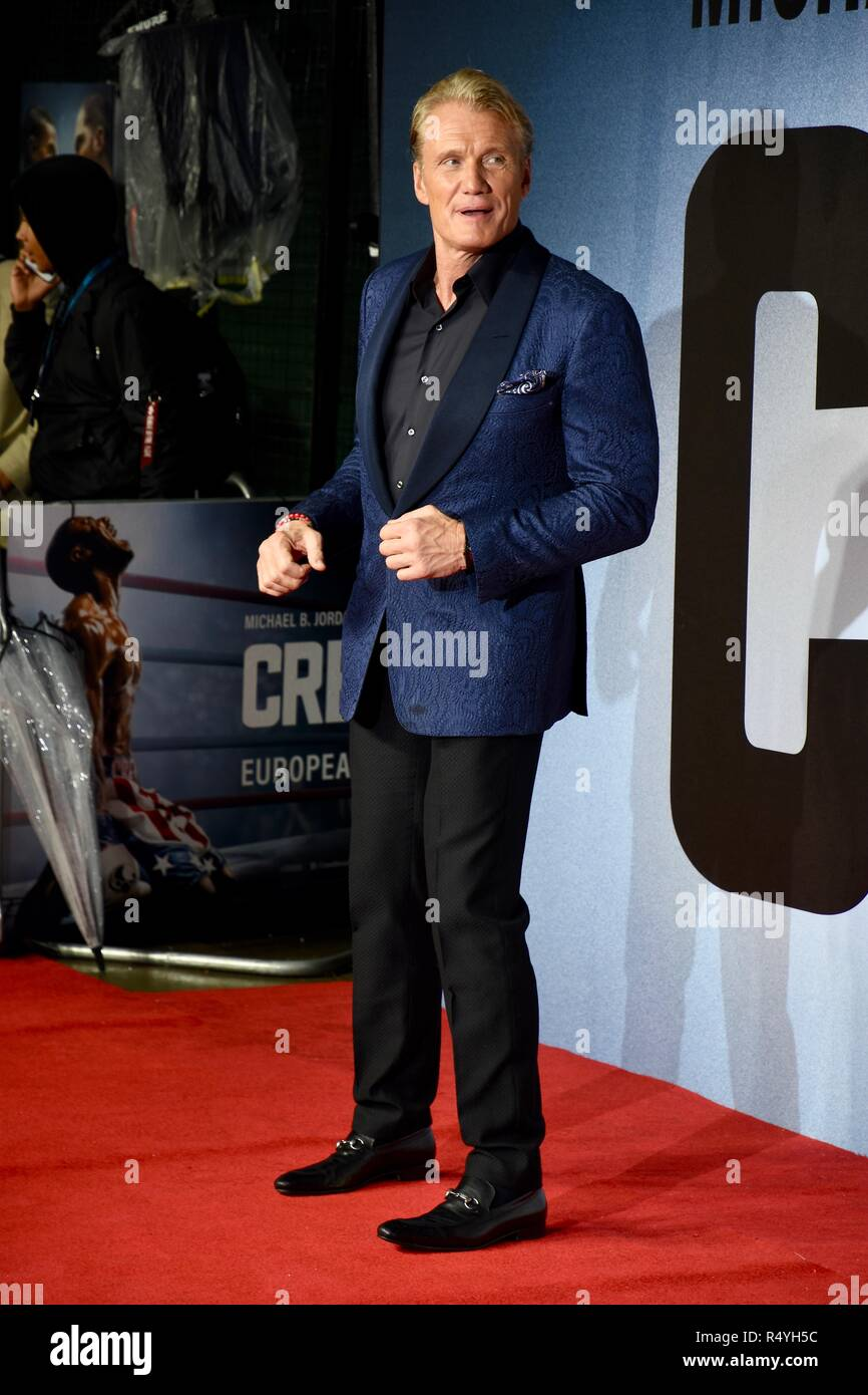 London, UK. 28th November, 2018. Dolph Lundgren,Creed II European Premiere,BFI IMAX,London.UK Credit: michael melia/Alamy Live News - Stock Image