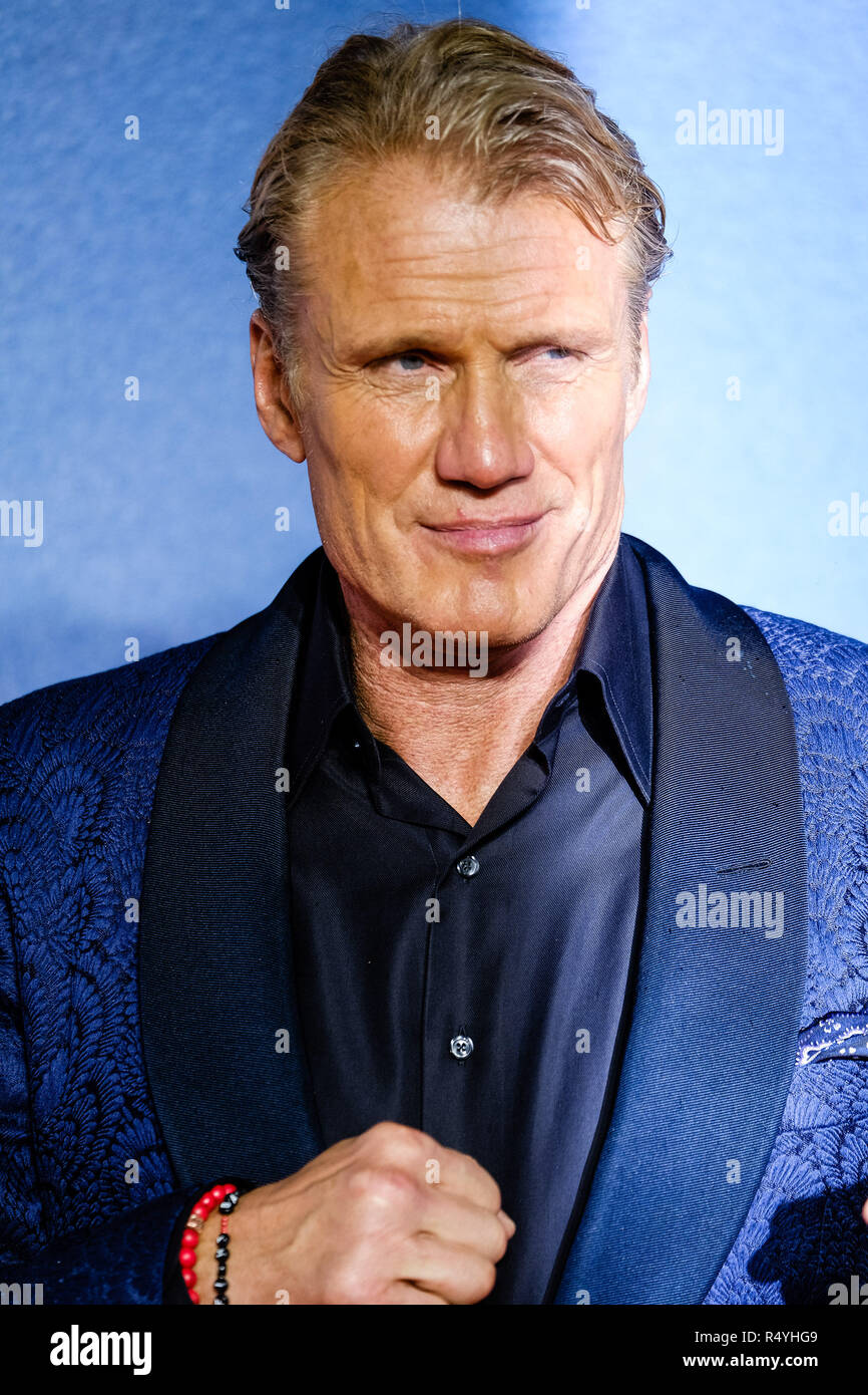 London, UK. 28th November, 2018. Dolph Lundgren at The European Premiere of CREED II on Wednesday 28 November 2018 held at BFI IMAX, London. Pictured: Dolph Lundgren. Credit: Julie Edwards/Alamy Live News - Stock Image