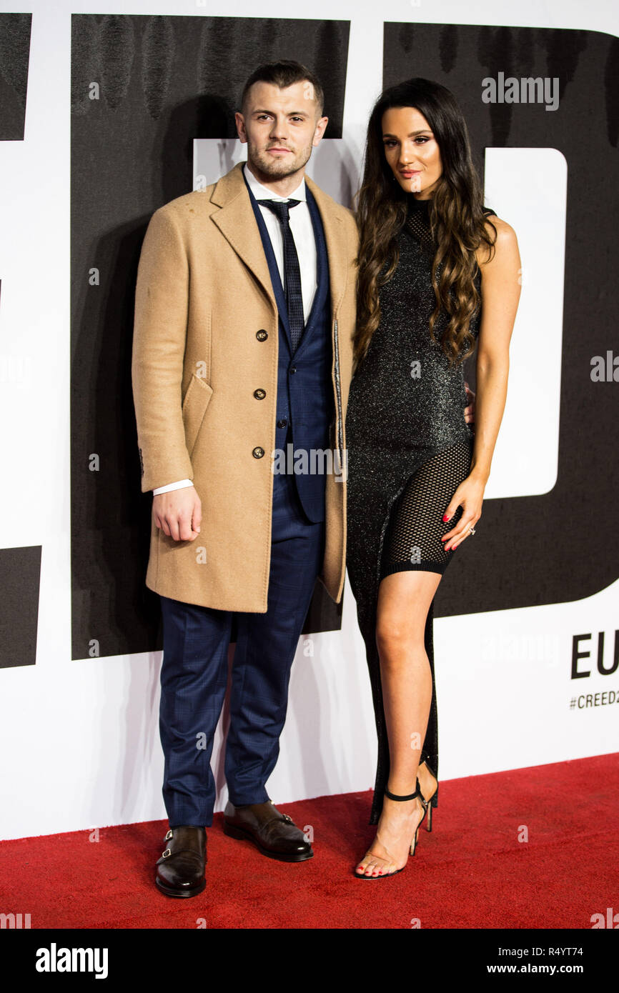 London, UK. 28th November, 2018. Jack Wilshere & Andriani Michael attending The European Premiere of CREED II at BFI IMAX London Waterloo on Wednesday 28th November Credit: Tom Rose/Alamy Live News - Stock Image