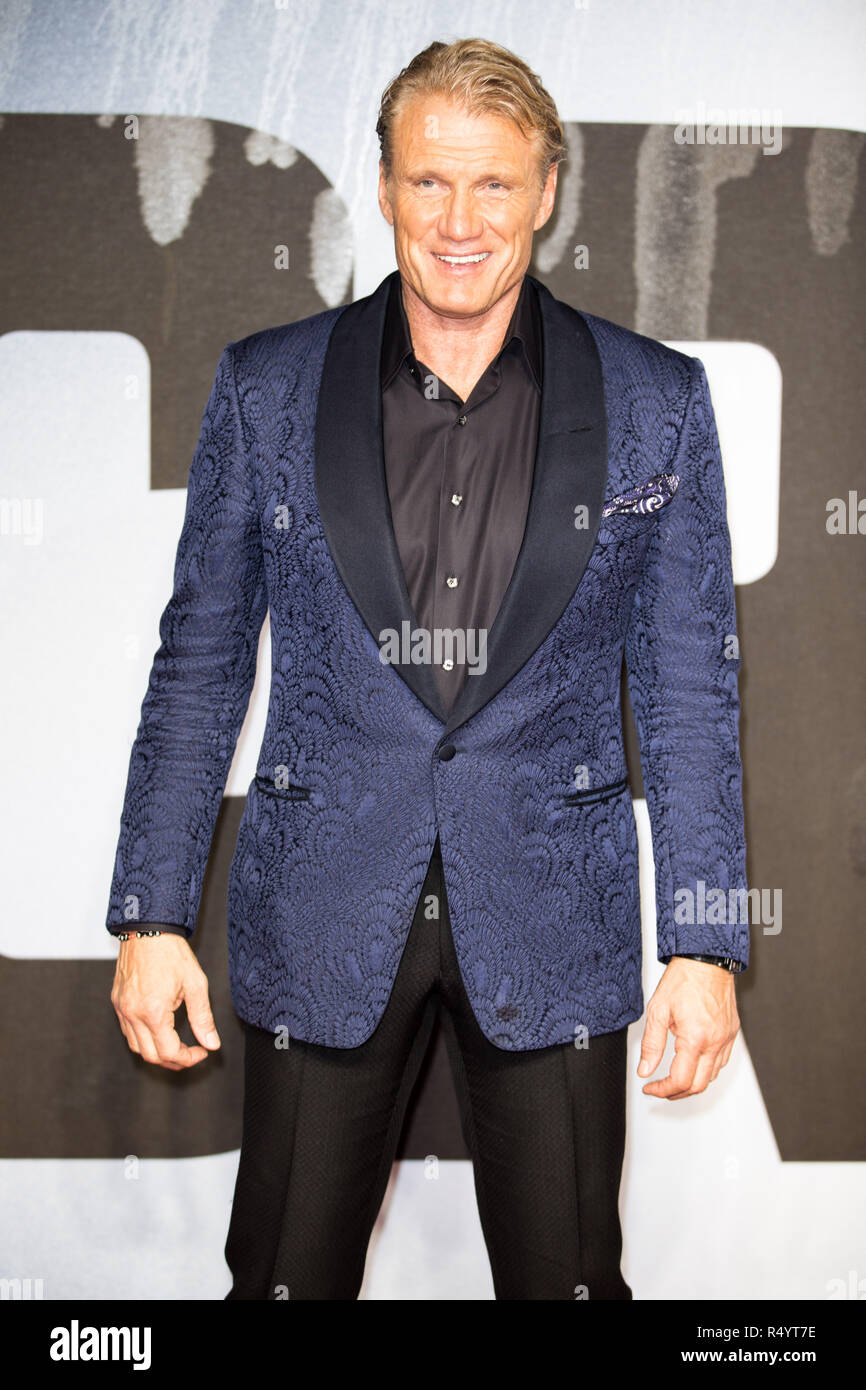 London, UK. 28th November, 2018. Dolph Lundgren attending The European Premiere of CREED II at BFI IMAX London Waterloo on Wednesday 28th November Credit: Tom Rose/Alamy Live News - Stock Image