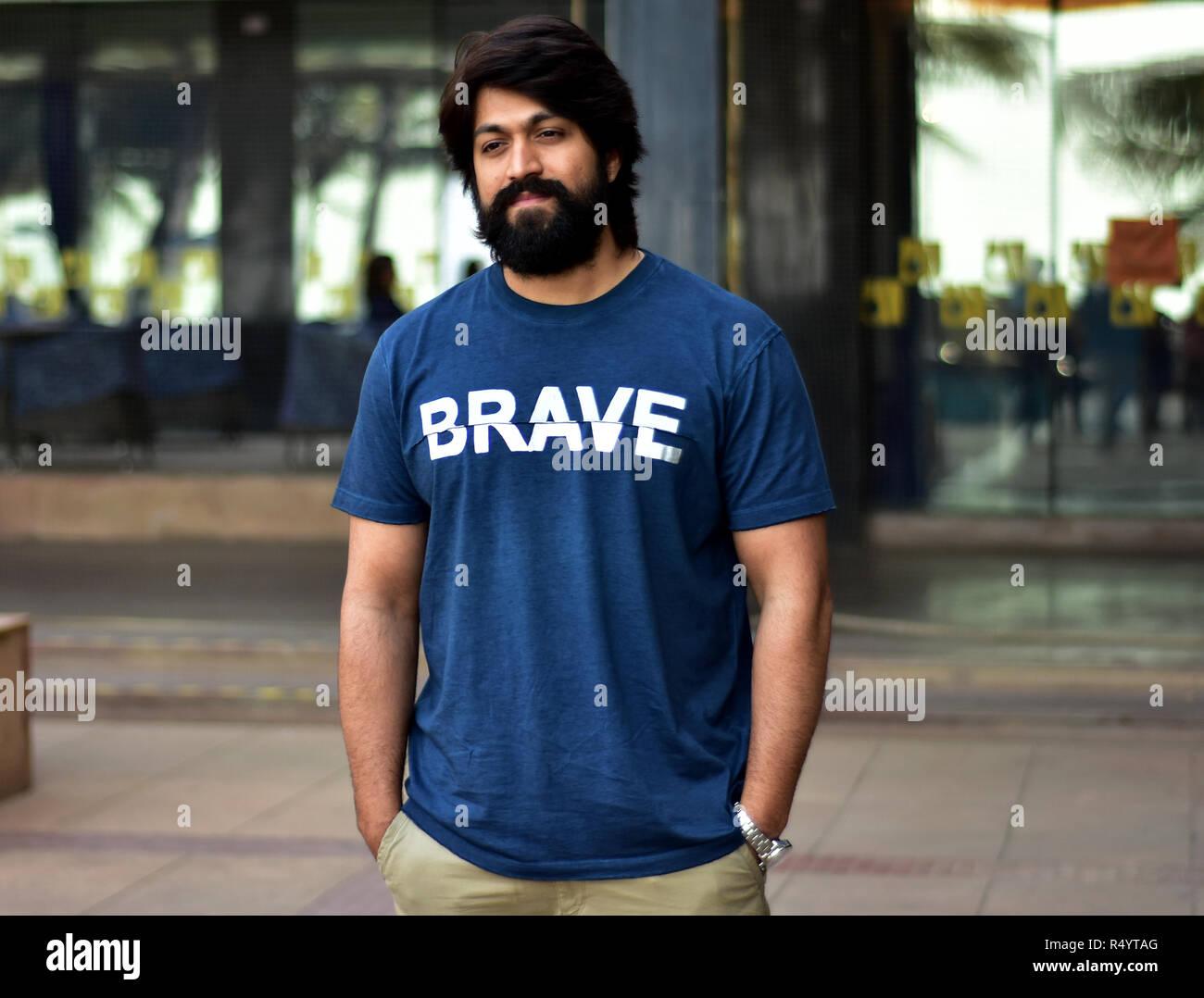 Mumbai India 28th Nov 2018 Kannada Cinema Actor Yash Seen