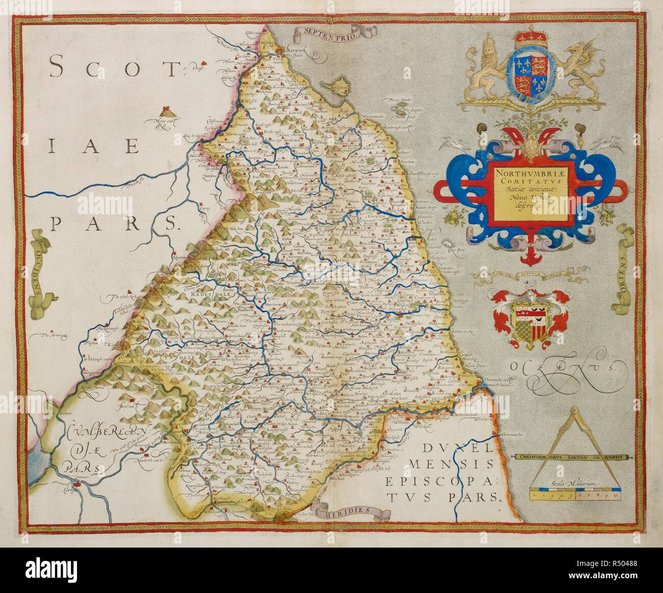 Map Of England Northumbria.Map Of Northumbria An Atlas Of England And Wales Containing 35