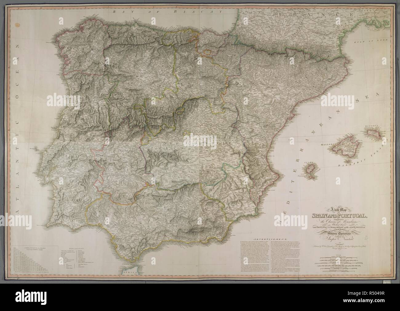 Detailed Map Of Spain In English.New Spain Map Stock Photos New Spain Map Stock Images Alamy