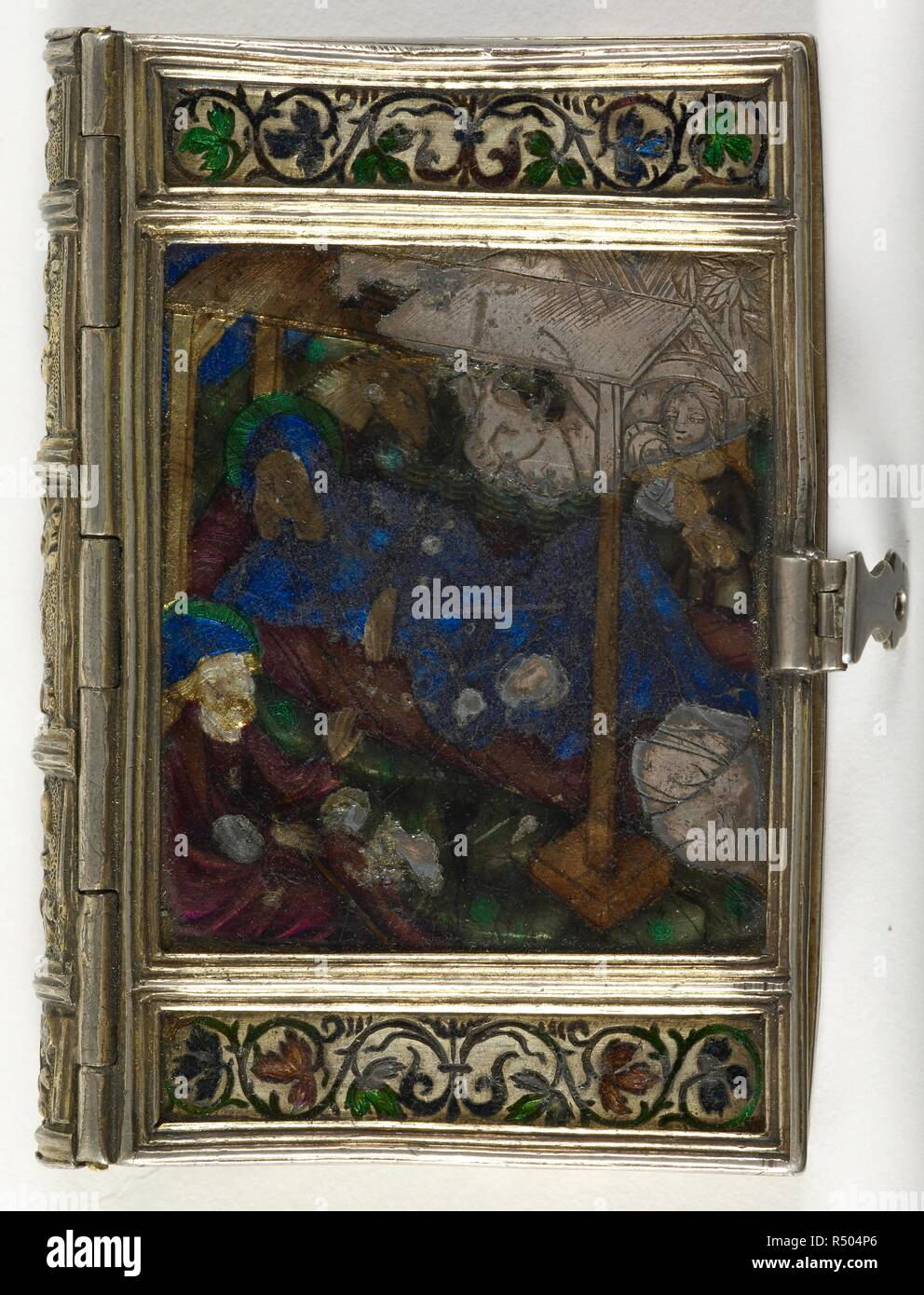 HOURS of the Cross. HOURS of the Cross and the Holy Spirit, with Penitential Psalms, Litany, and Prayers. Lat. France, 16th cent. Binding. Source: Add. 22751 front binding. Stock Photo