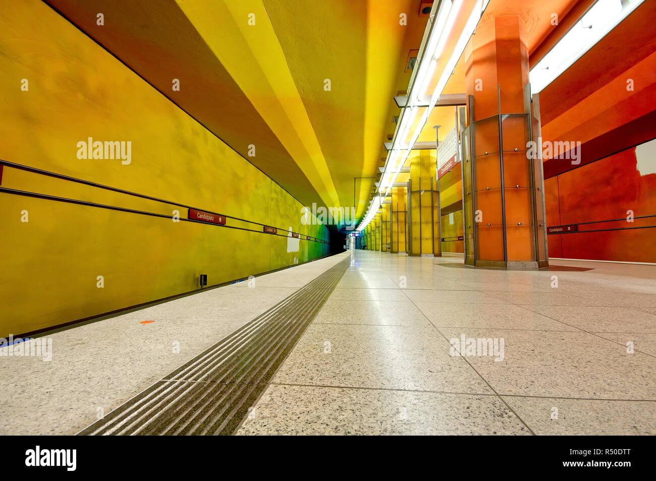 Candidplatz subway station in Munich, Germany Stock Photo