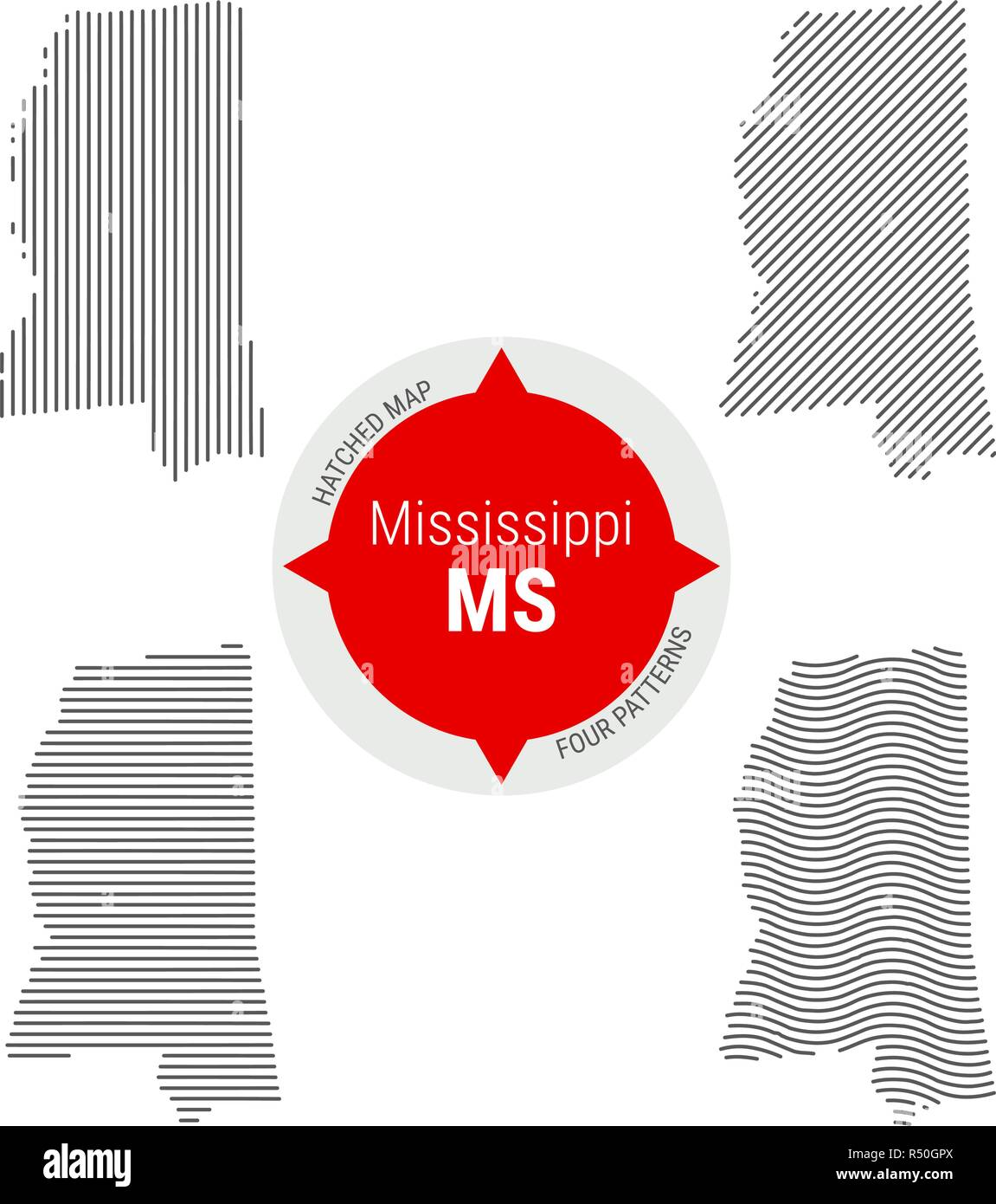 Political Map Mississippi Stock Photos Political Map Mississippi