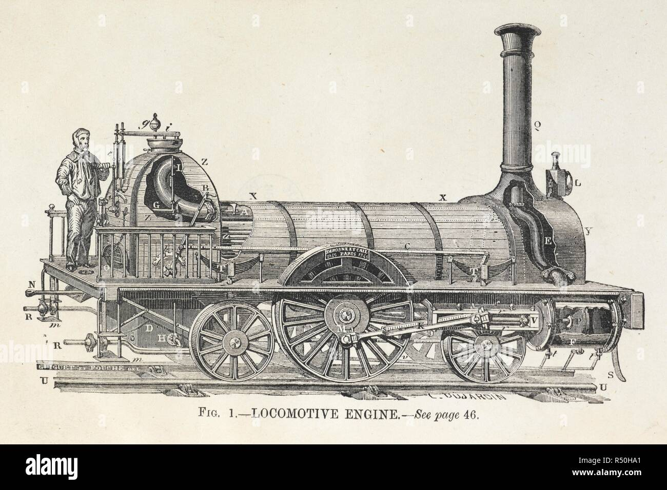 diagram of a steam locomotive engine with driver  the model steam engine