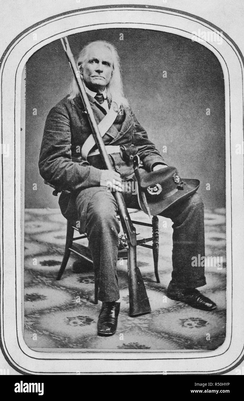 Edmund Ruffin. Fired the 1st shot in the Civil War. Killed himself at close of War, circa 1861 - Stock Image