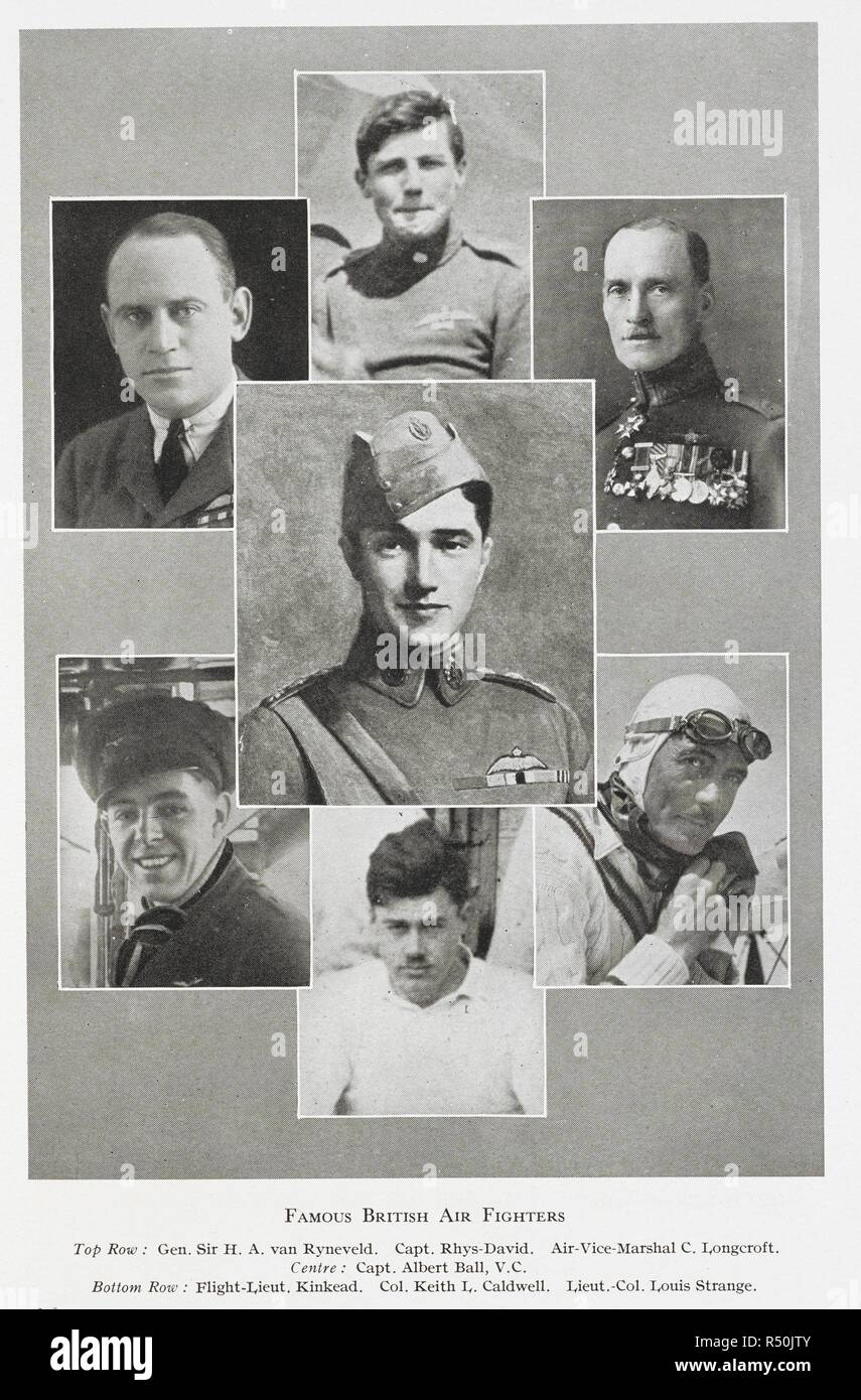 672825ab37 Famous British air fighters'. Top row: Gen. H.A. Van Ryneveld. Capt