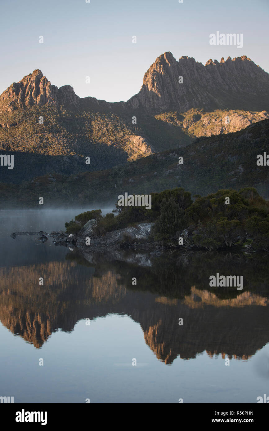 Cradle mountain National Park view - Stock Image