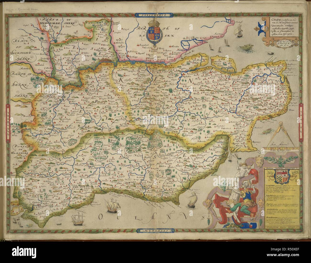 Sussex And Kent An Atlas Of England And Wales Containing 35 Colou