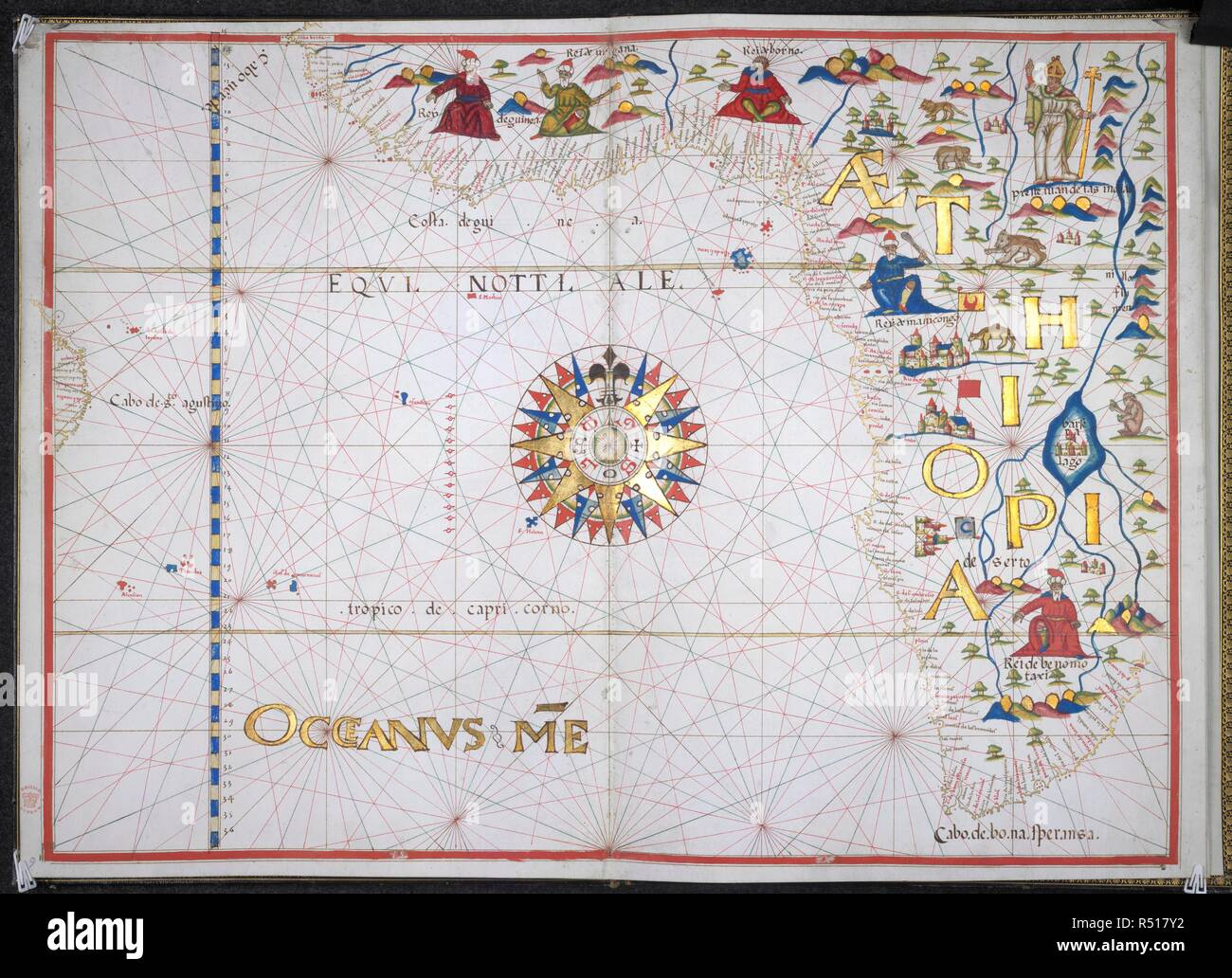 Map Of South West Coast Of Spain.West Coast Of Africa Portolano Spain Before 1600 Whole Chart