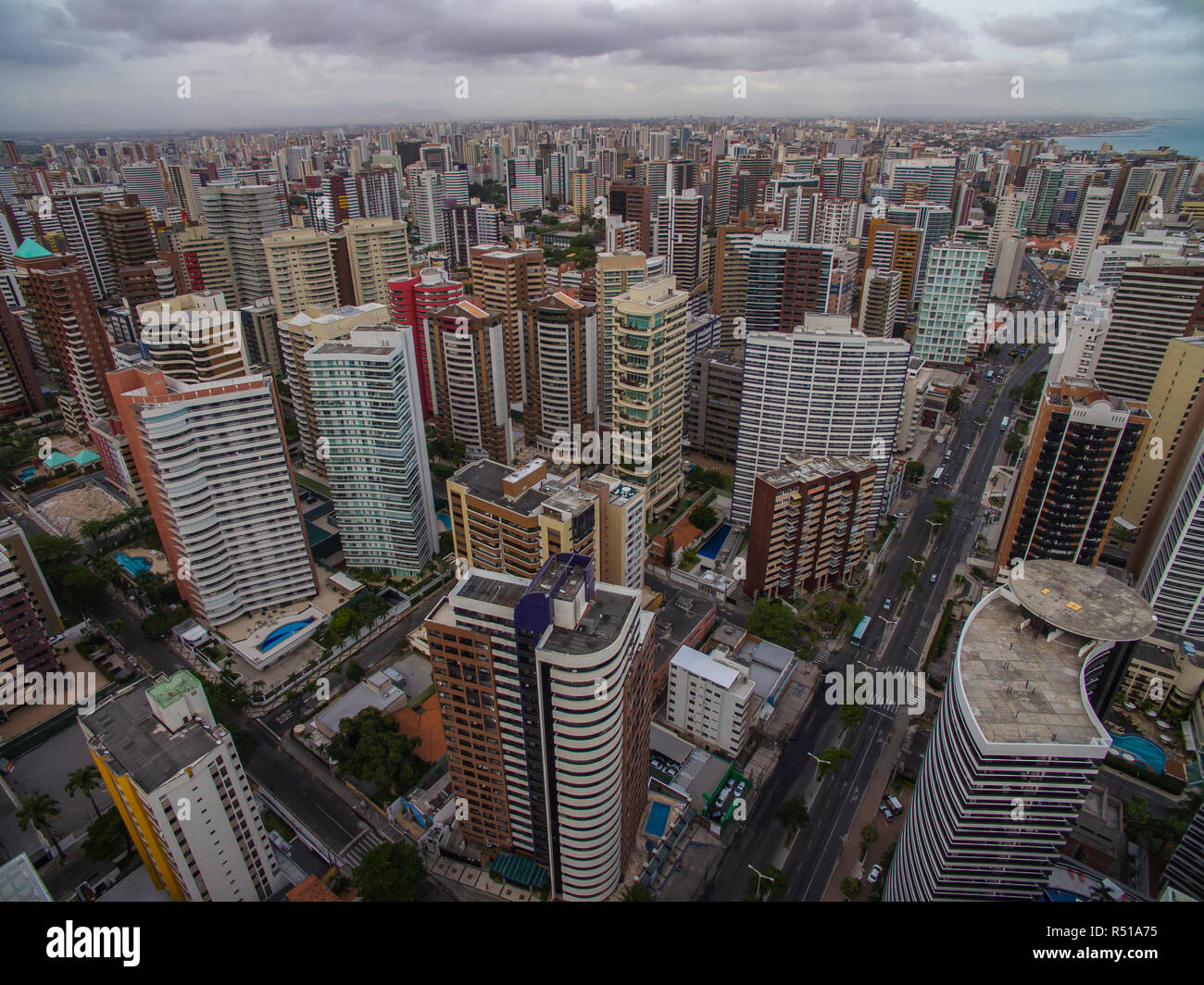 Aeria view of the city of Fortaleza, Ceará, Brazil South America. Stock Photo