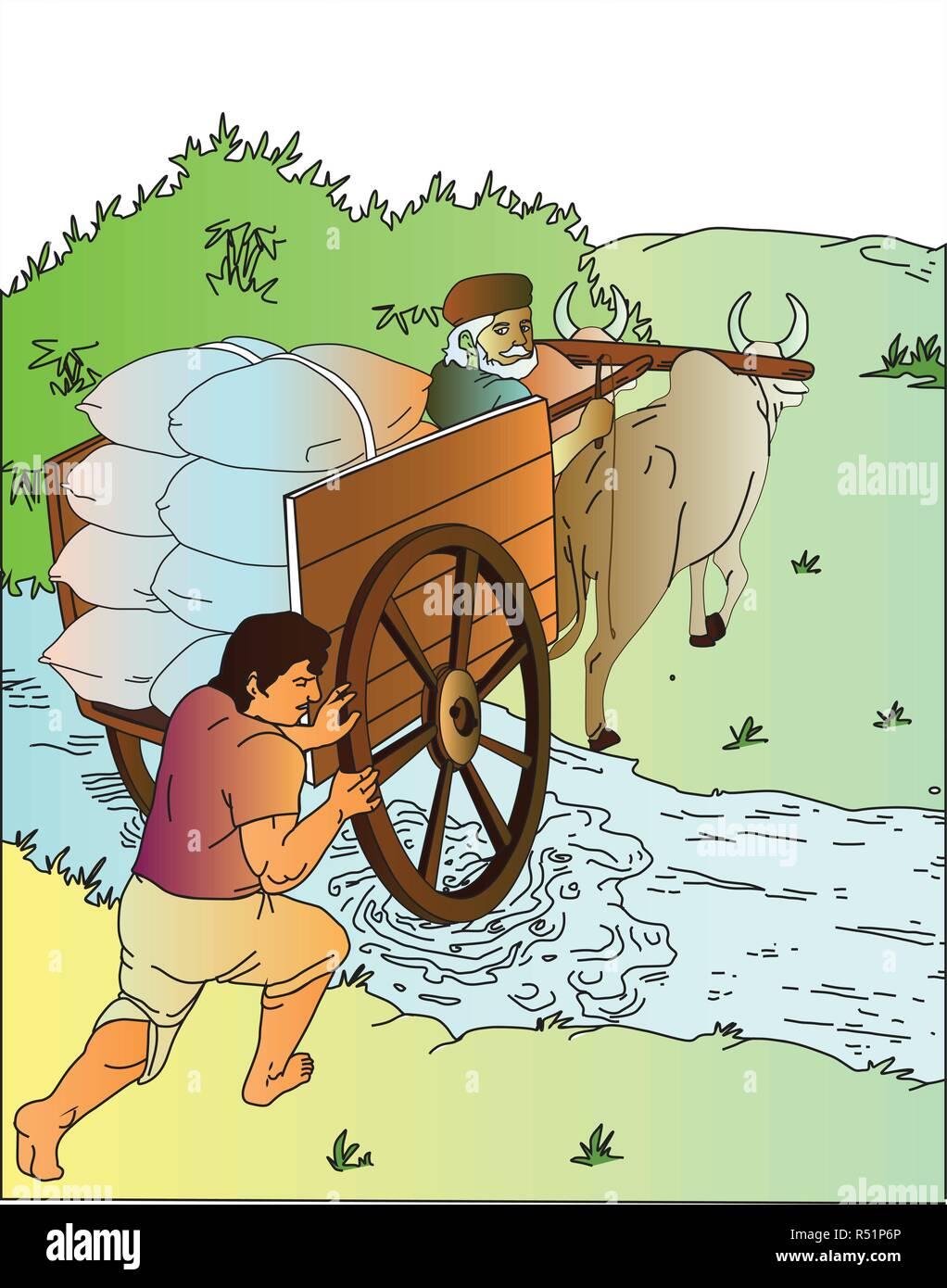 Bullock cart - Stock Image