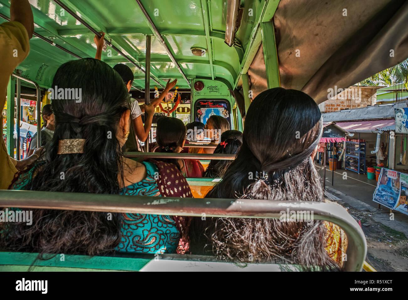 26 Jan 2013 Kerala Womana S Hair Style Woman Sitting In Bus