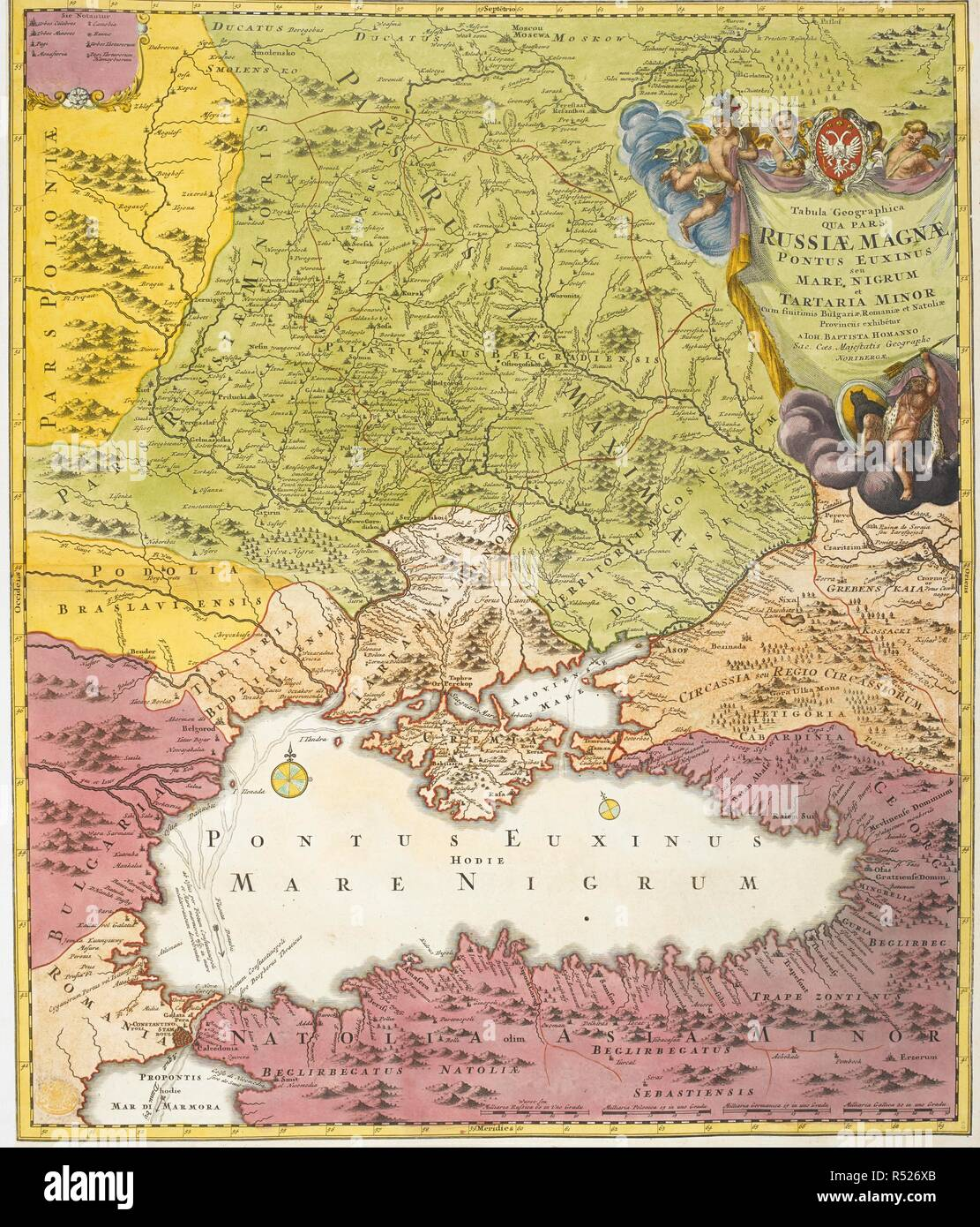 18th Century Map Russia Stock Photos 18th Century Map Russia Stock