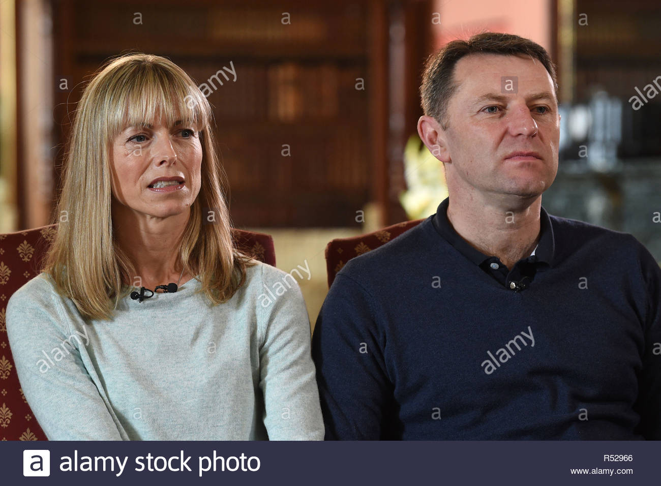 File photo dated 30/4/2017 of Kate and Gerry McCann. Victims of 'serious media intrusion' will find out if they have succeeded in their High Court action over the second part of the Leveson Inquiry. - Stock Image