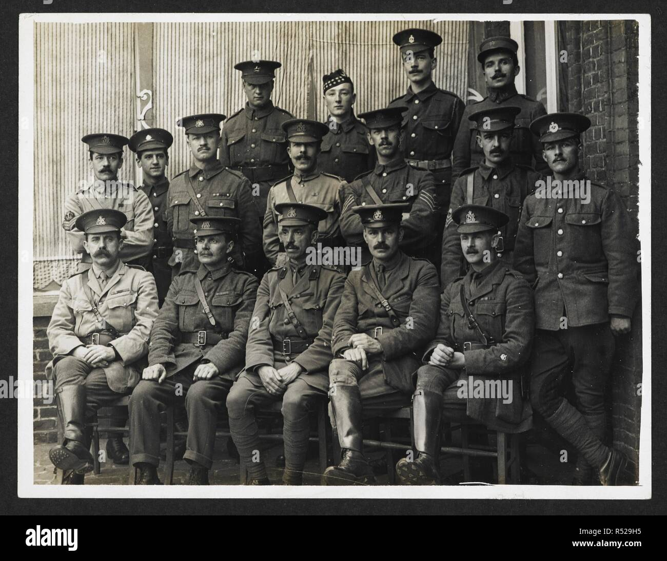 Clerks H Q Indian Corps Merville France 31 July 1915 Record Of The Indian Army In Europe