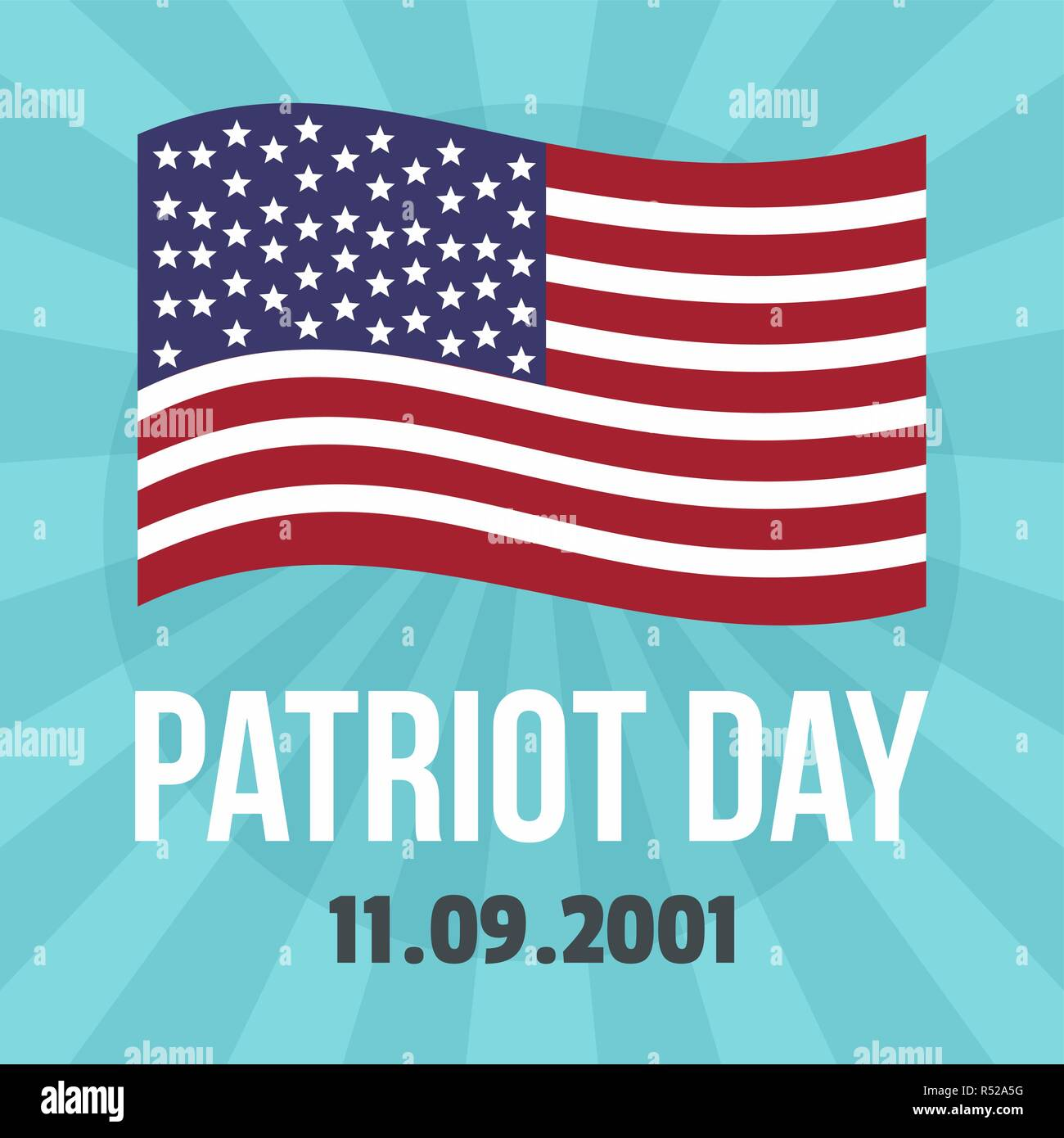 American patriot day background. Flat illustration of american patriot day vector background for web design - Stock Vector