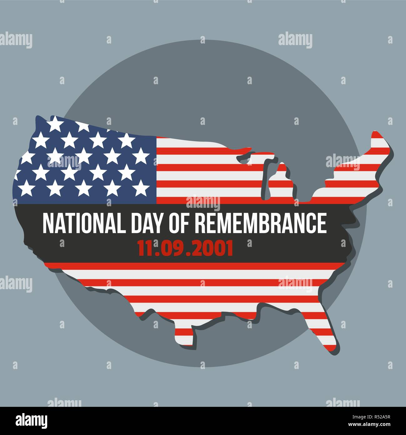 National american day of remembrance background. Flat illustration of national american day of remembrance vector background for web design - Stock Vector