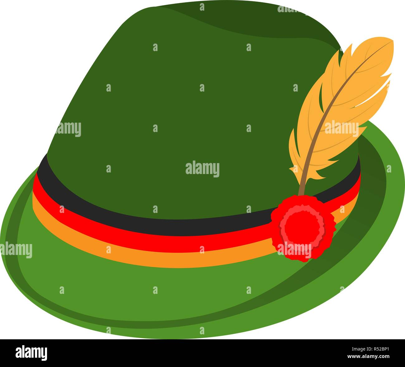 5298ff9d88c Green traditional german hat icon. Isometric of green traditional german  hat vector icon for web