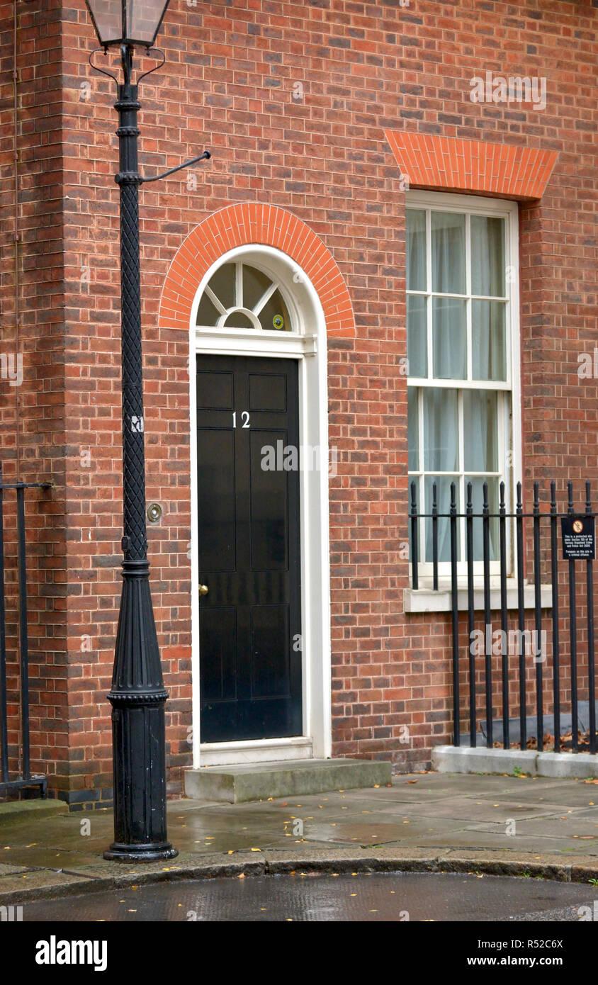 12 Downing Street, London, England, UK. - Stock Image