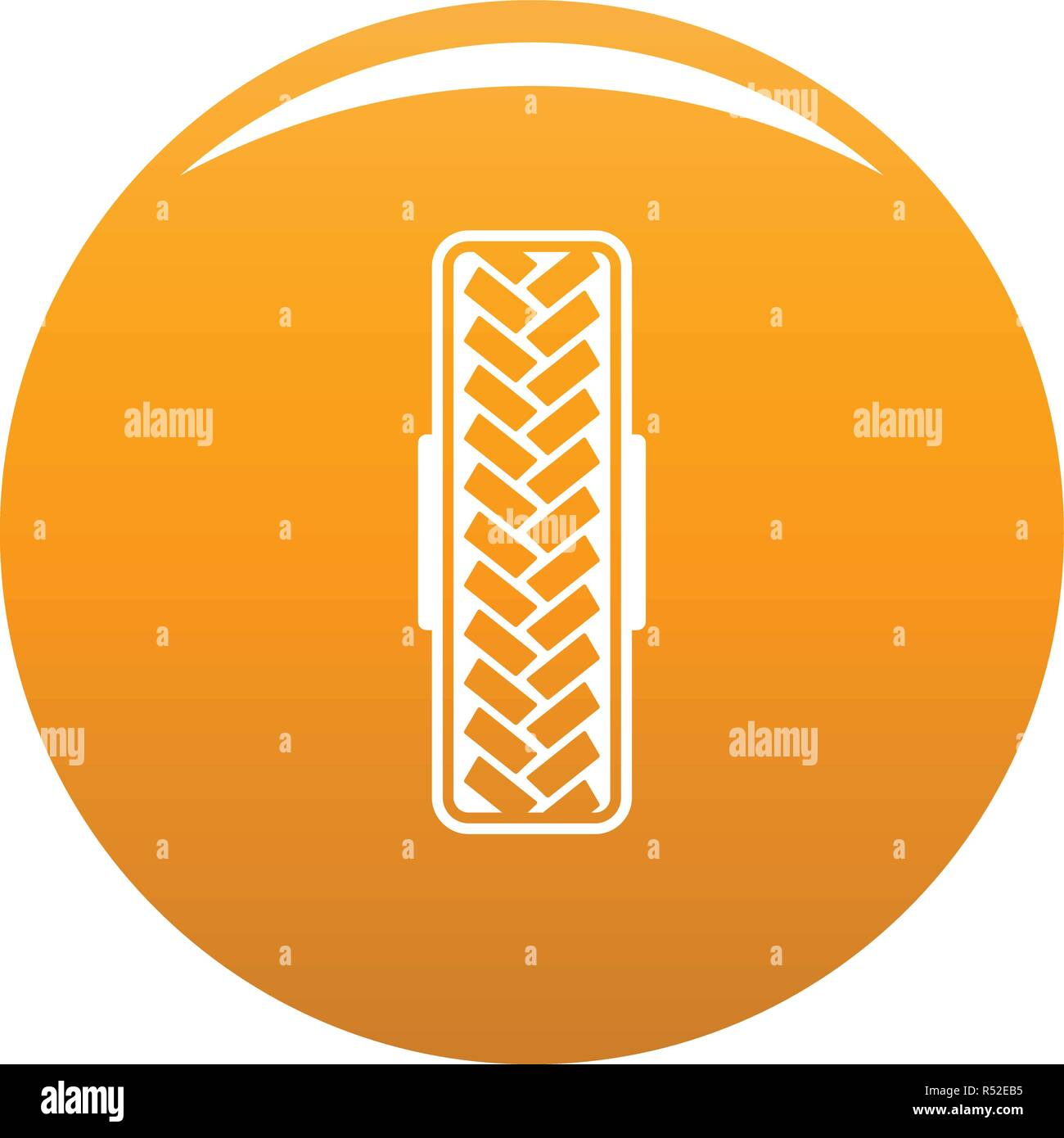 Tread pattern icon. Simple illustration of tread pattern vector icon for any design orange - Stock Vector