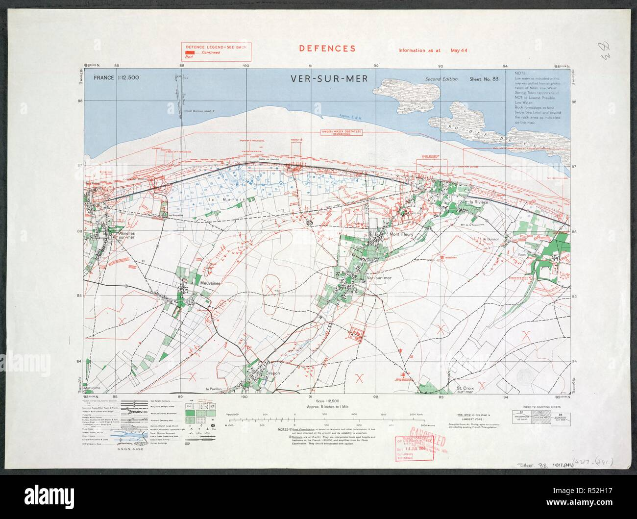 D Day Beaches Normandy France Map on