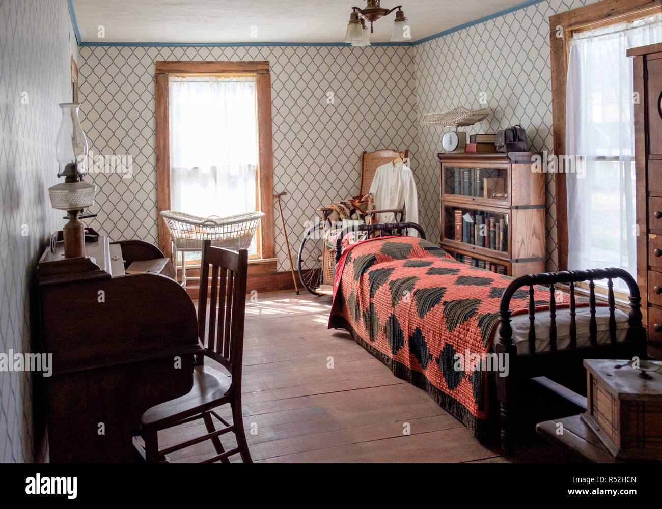 Super Vintage Texan Bedroom Interior With Bed Rocking Chair Roll Andrewgaddart Wooden Chair Designs For Living Room Andrewgaddartcom