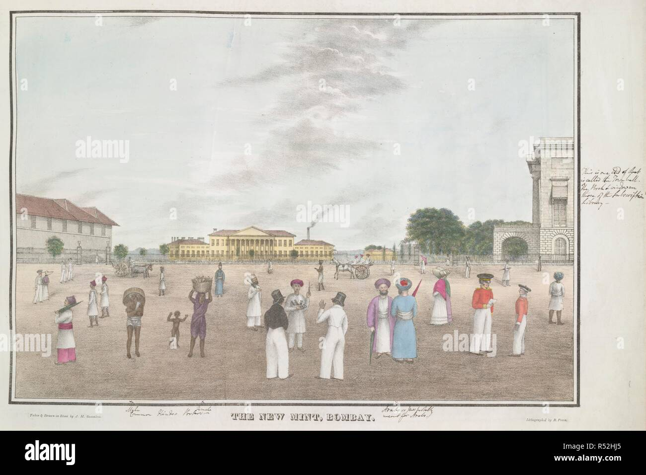 The New Mint, Bombay. The Bombay Mint was constructed between 1821 and 1829  on the site of the Fort rubbish dump. The building on the right of the  picture is the Town