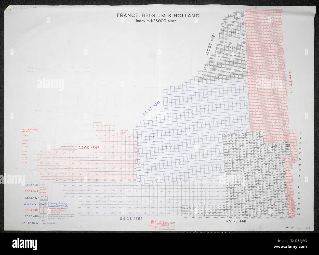A Graphic Index On A Map Of The Second World War France Belgium