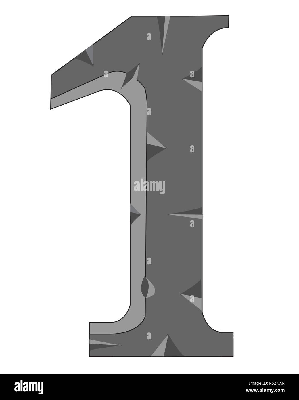 Numeral one - Stock Image