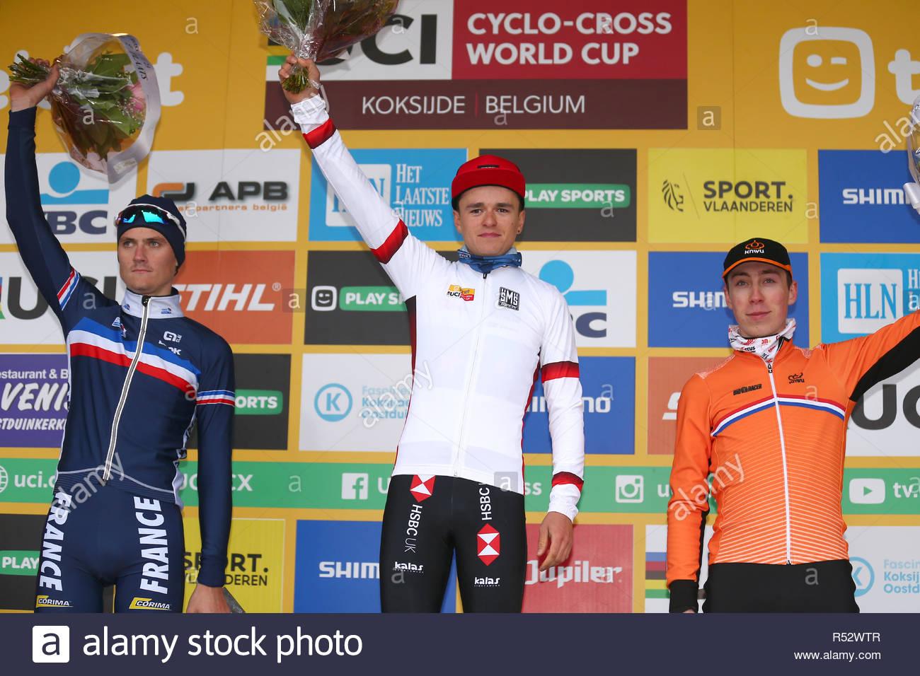 Koksijde Belgium 25 November 2018 World Cup Cyclecross L R