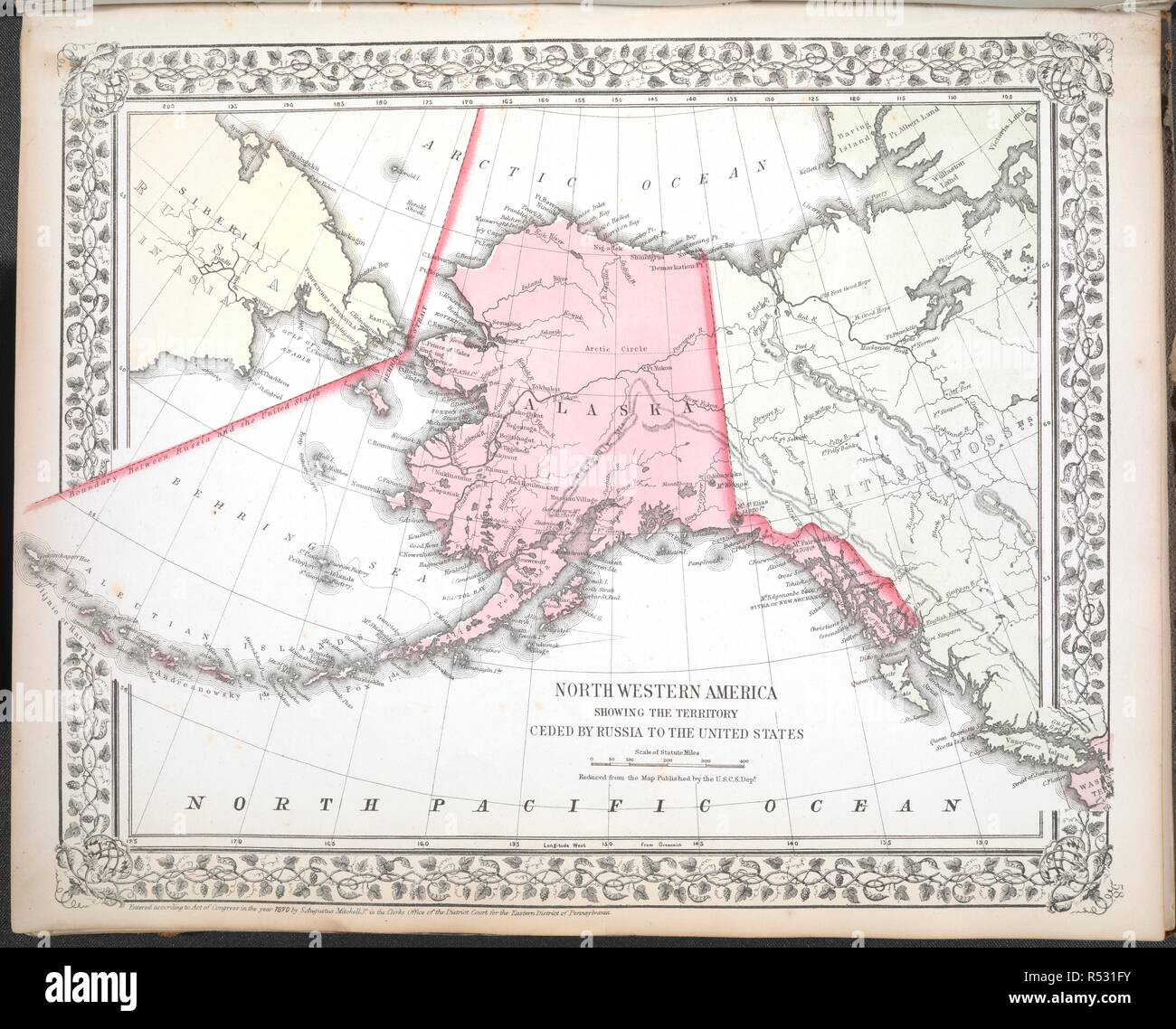 North Western America showing the territory ceded by Russia ...