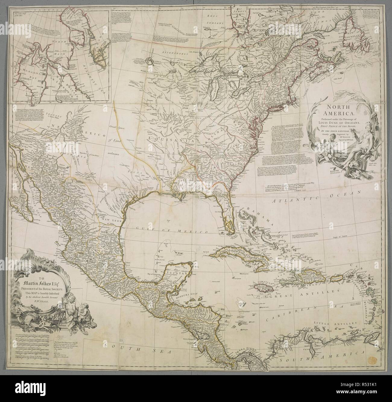 A map of North America. A map of Hudson Bay and Baffin's Bay inset Duke Maps on