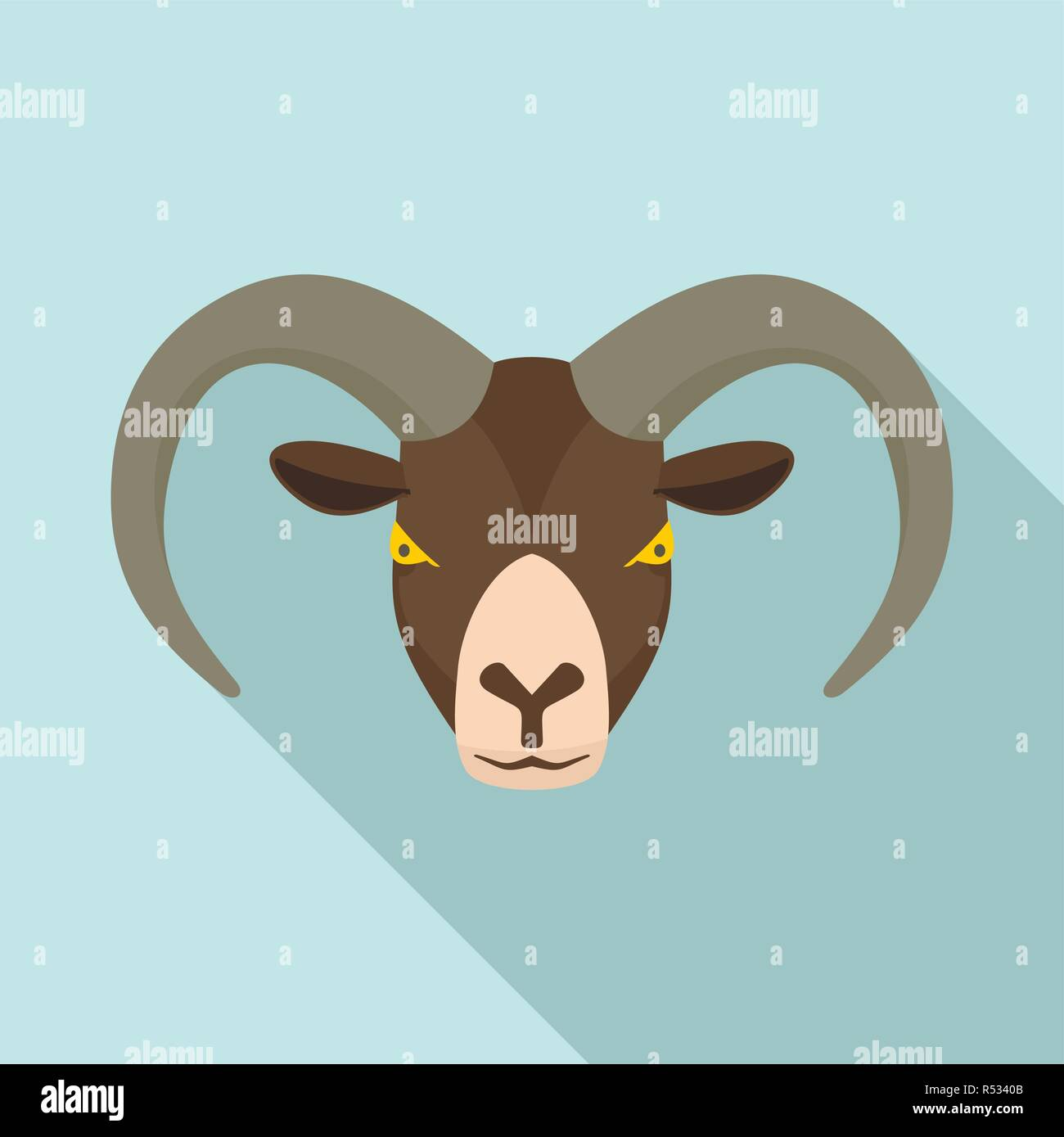 aed5c54d9 Ram head icon. Flat illustration of ram head vector icon for web design -  Stock