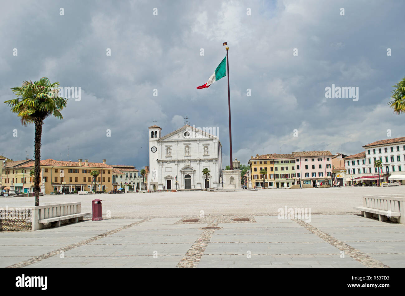 Palmanova town, example of star fort of the Late Renaissance, included in Unesco heritage. Palmanova 2016 - Stock Image