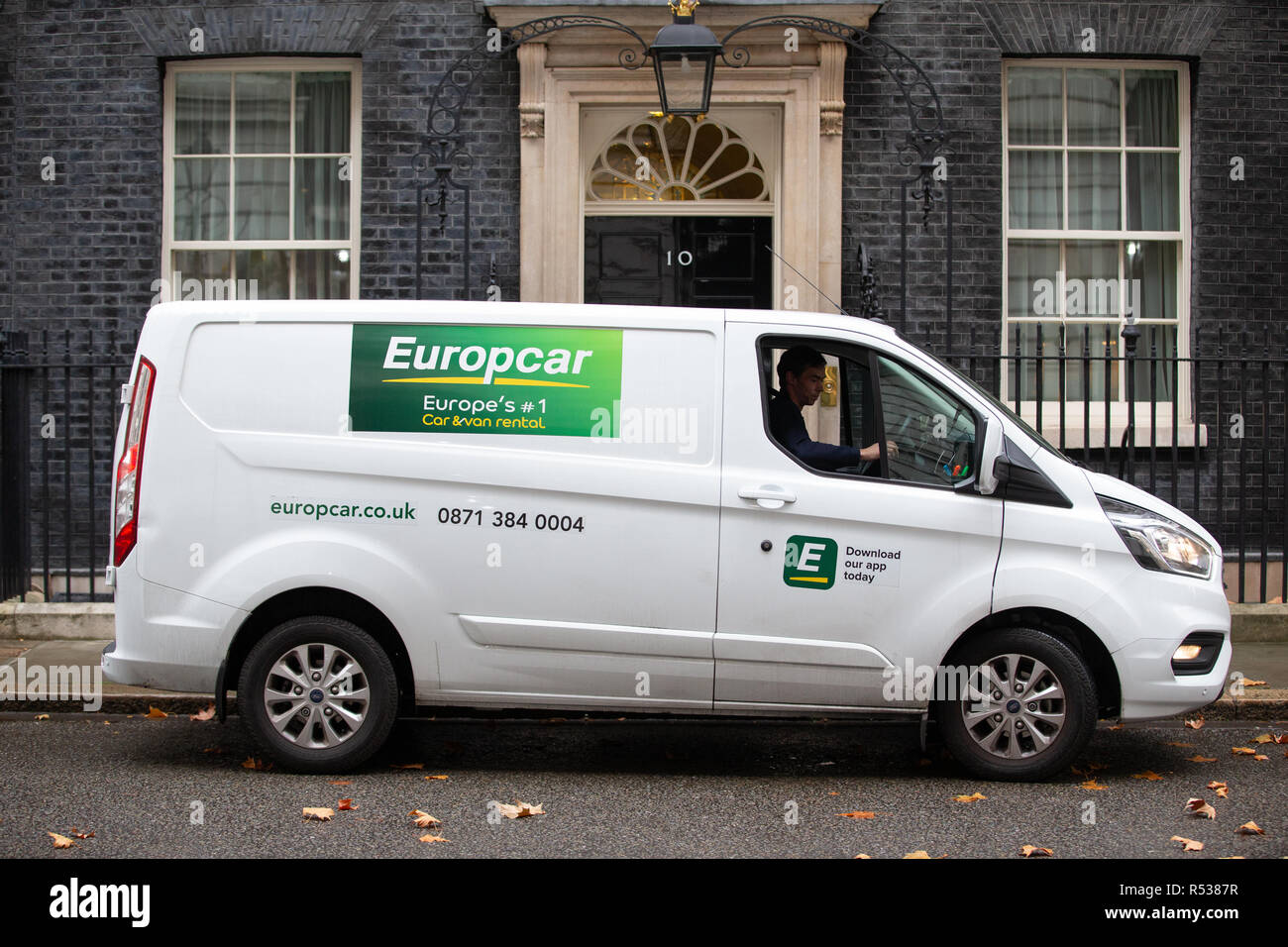 Europcar Van With A Delivery For Number 10 Downing Street This Has