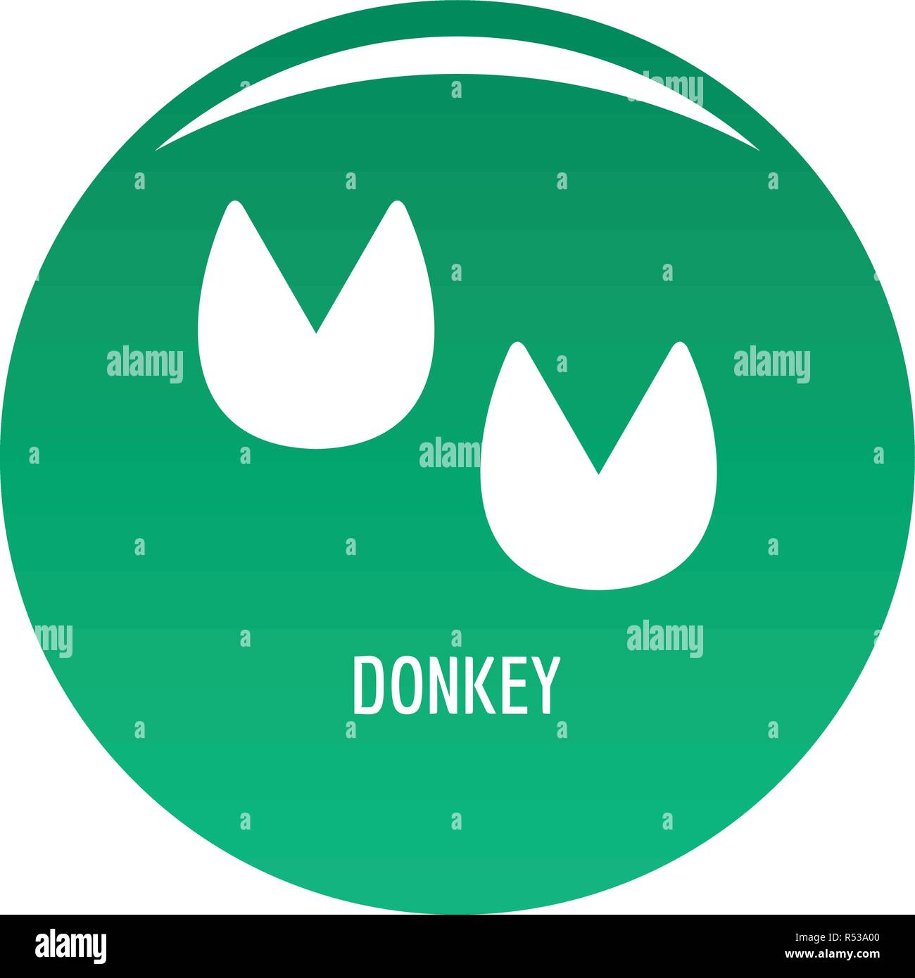 Donkey step icon. Simple illustration of donkey step vector icon for any design green - Stock Image