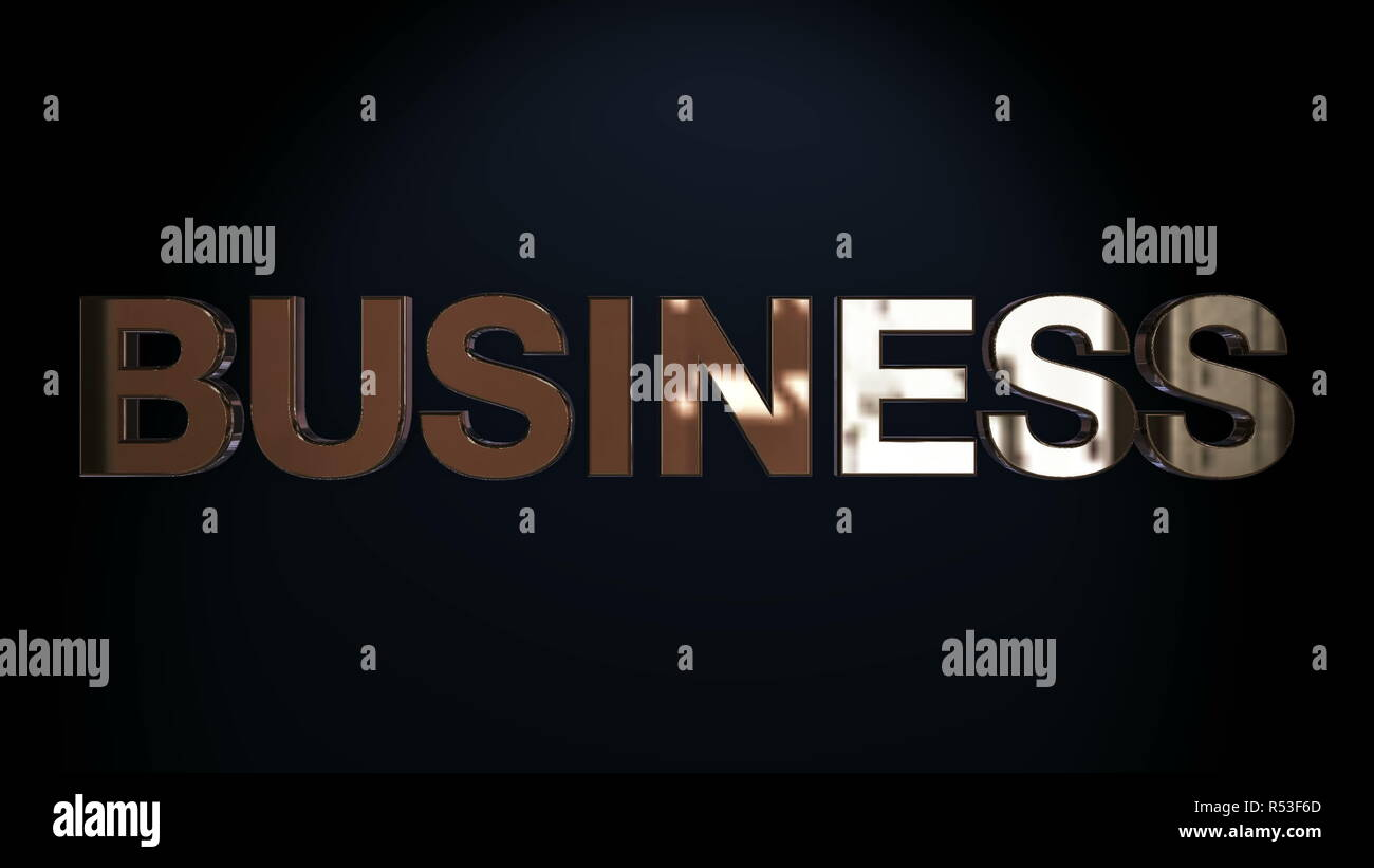 Three-dimensional business text Stock Photo
