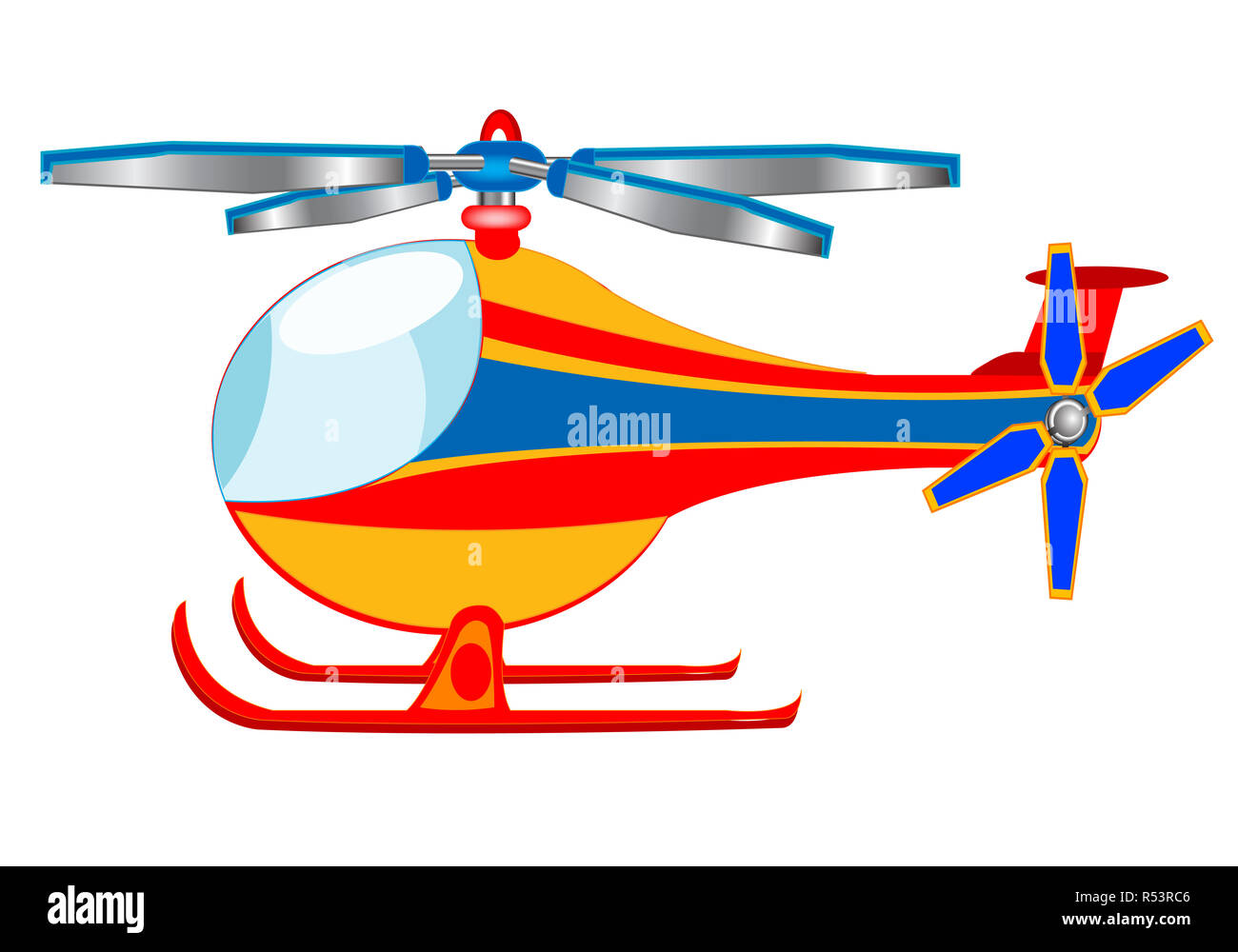 Helicopter Cartoon High Resolution Stock Photography And Images Alamy