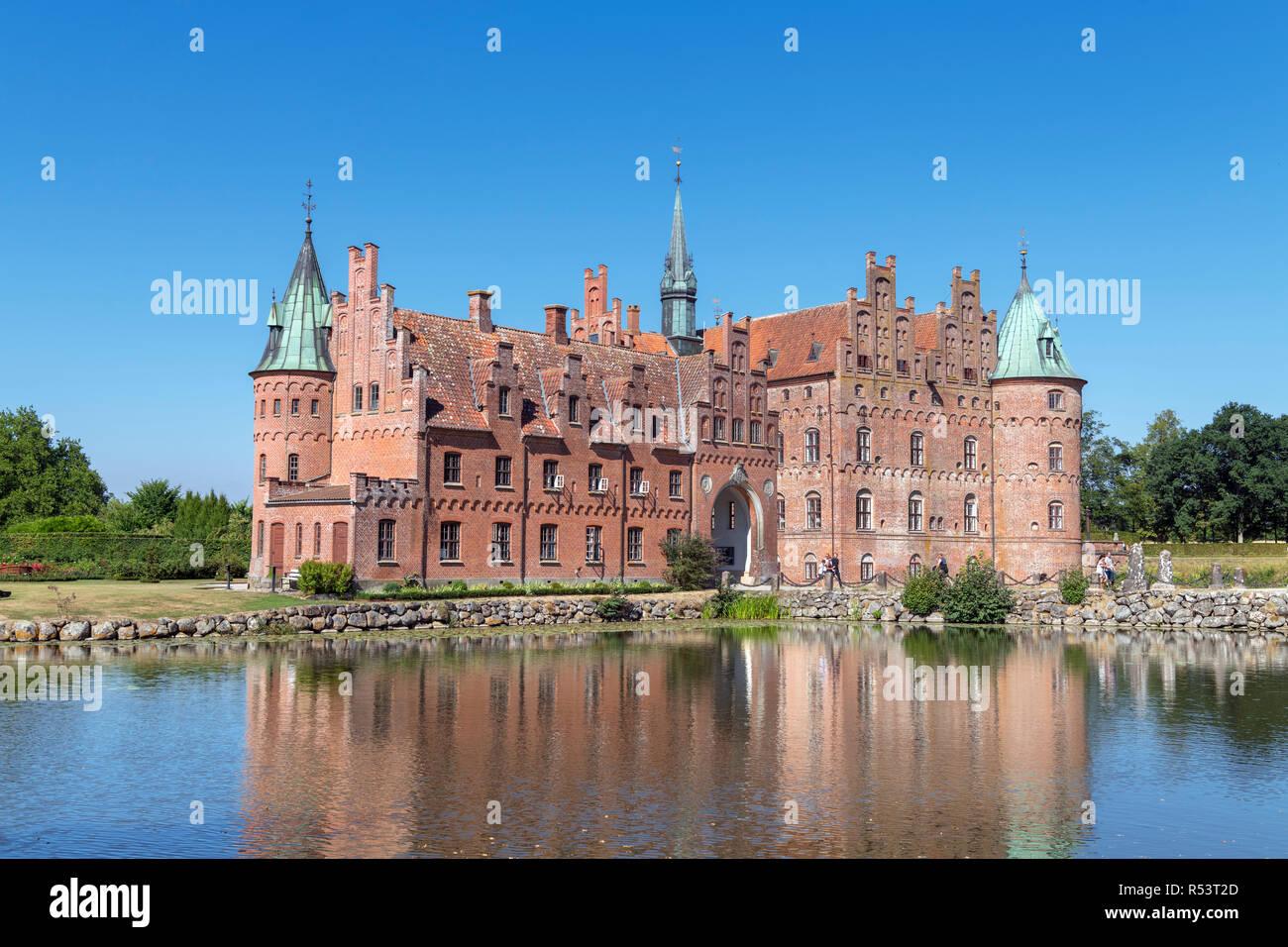 Egeskov Castle (Egeskov Slot), Kværndrup, Funen, Denmark - Stock Image