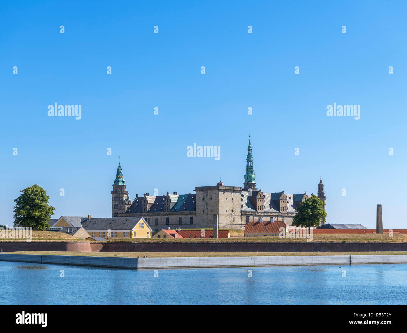 Elsinore Castle. Kronborg Castle, Helsingør ( Elsinore ), Zealand, Denmark - Stock Image