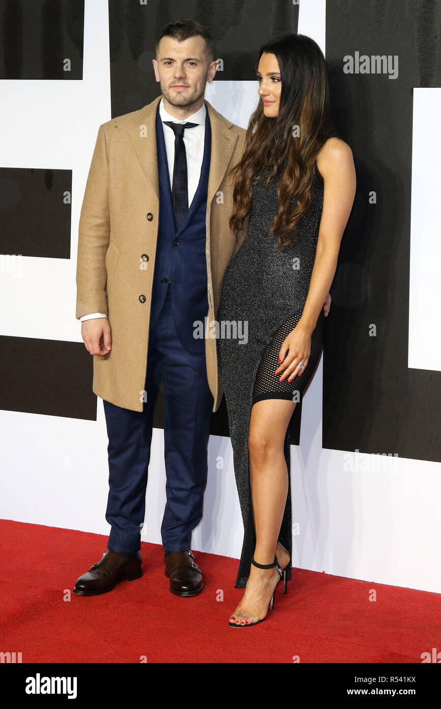 London, UK. 28th November, 2018. Jack Wilshere and Andriani Michael attends European Premiere of Creed II at BFI Imax in Central London, UK   Wednesday 29th November 2018  Martin Evans/Alamy Live News - Stock Image