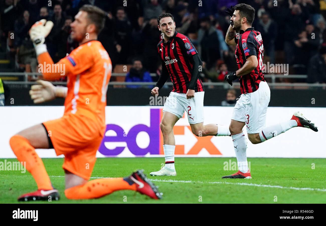 ESCLUSIVA MILAN Foto LaPresse - Spada 29 Novembre 2018 - Milano ( Italia )  Ac Milan vs Dudelange - Europa League -