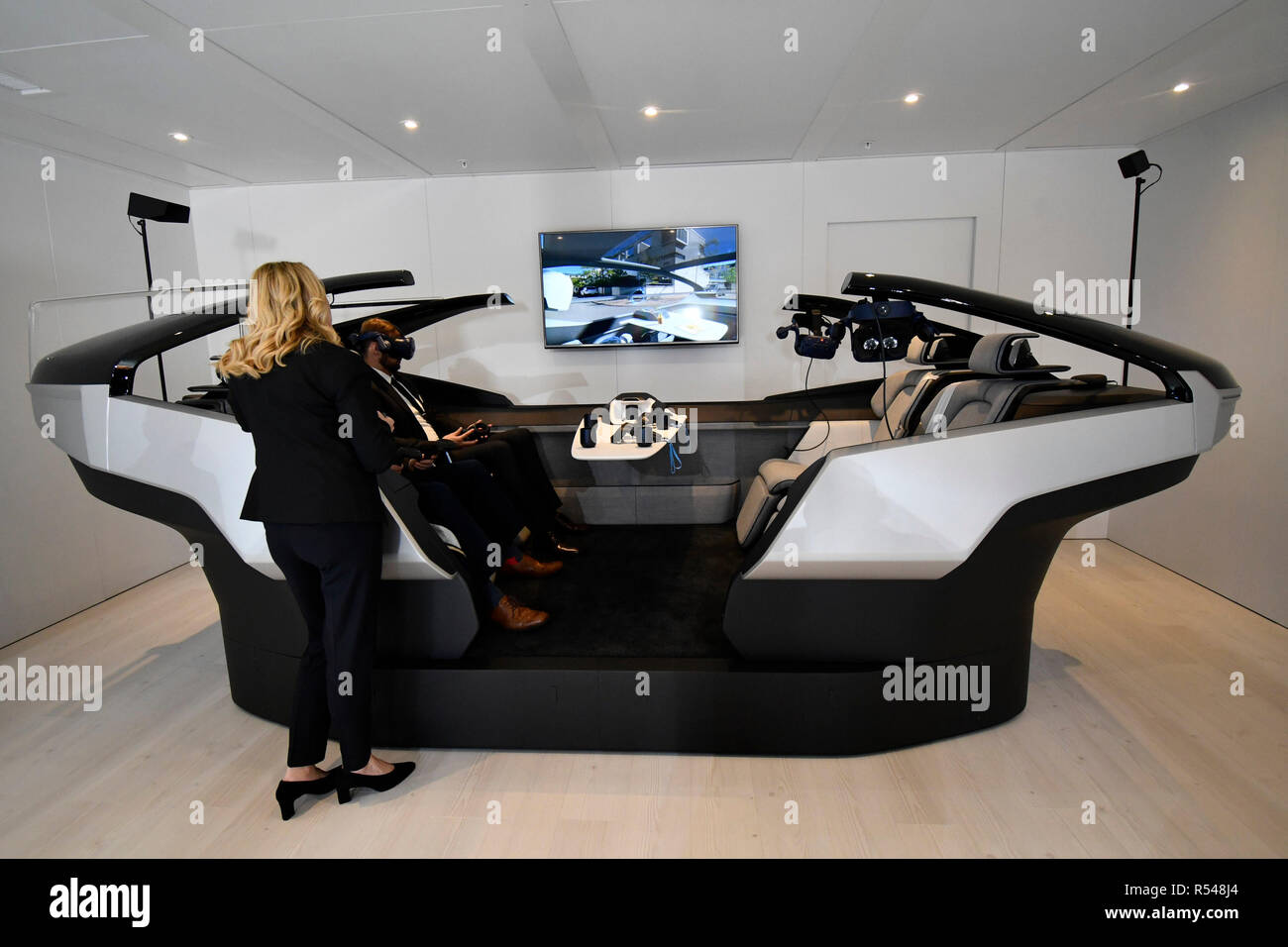 Volvo Luminar technology on display during the 2018 Los Angeles Auto Show media day Wednesday Nov 28, 2018. The show opens to the public Friday Nov 30th at the Los Angeles Convention Center.Photo by Gene Blevins/ZumaPress. Credit: Gene Blevins/ZUMA Wire/Alamy Live News - Stock Image