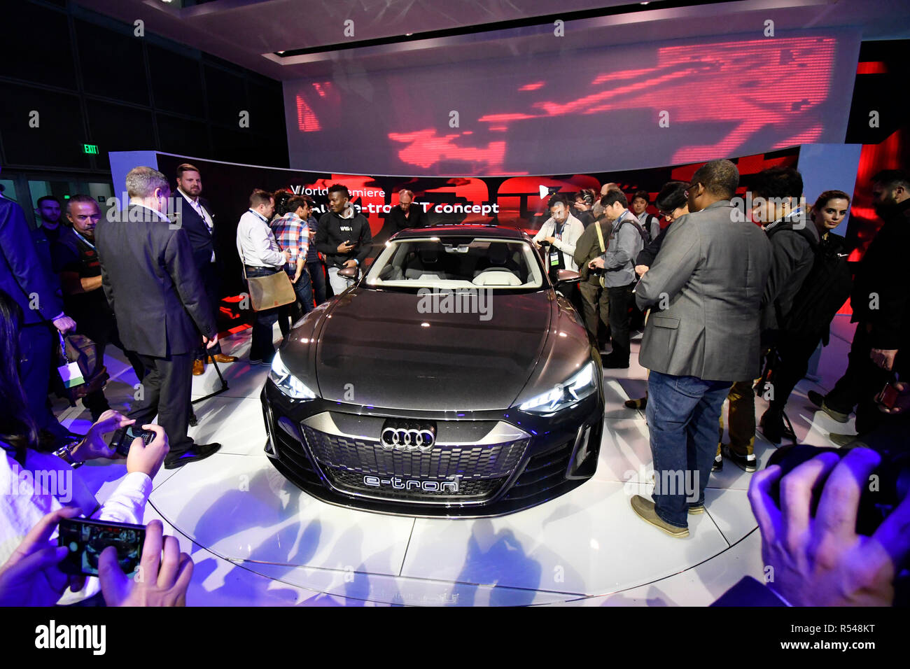 2020 Los Angeles Auto Show.The New 2020 Audi E Tron Gt Concept Car That Will Be Coming