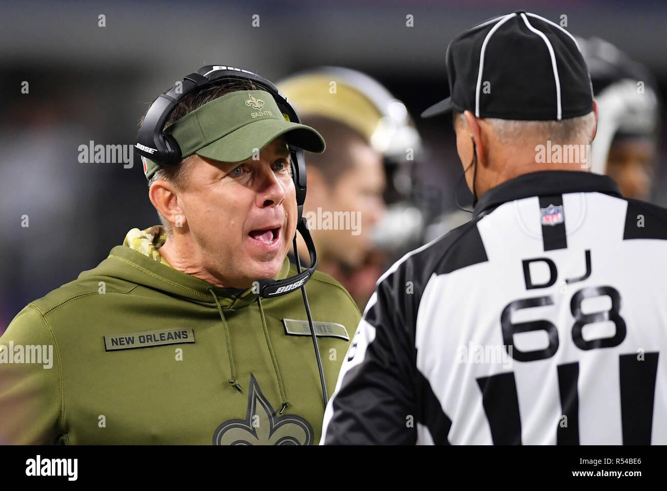 Arlington Texas Usa 29th Nov 2018 New Orleans Saints