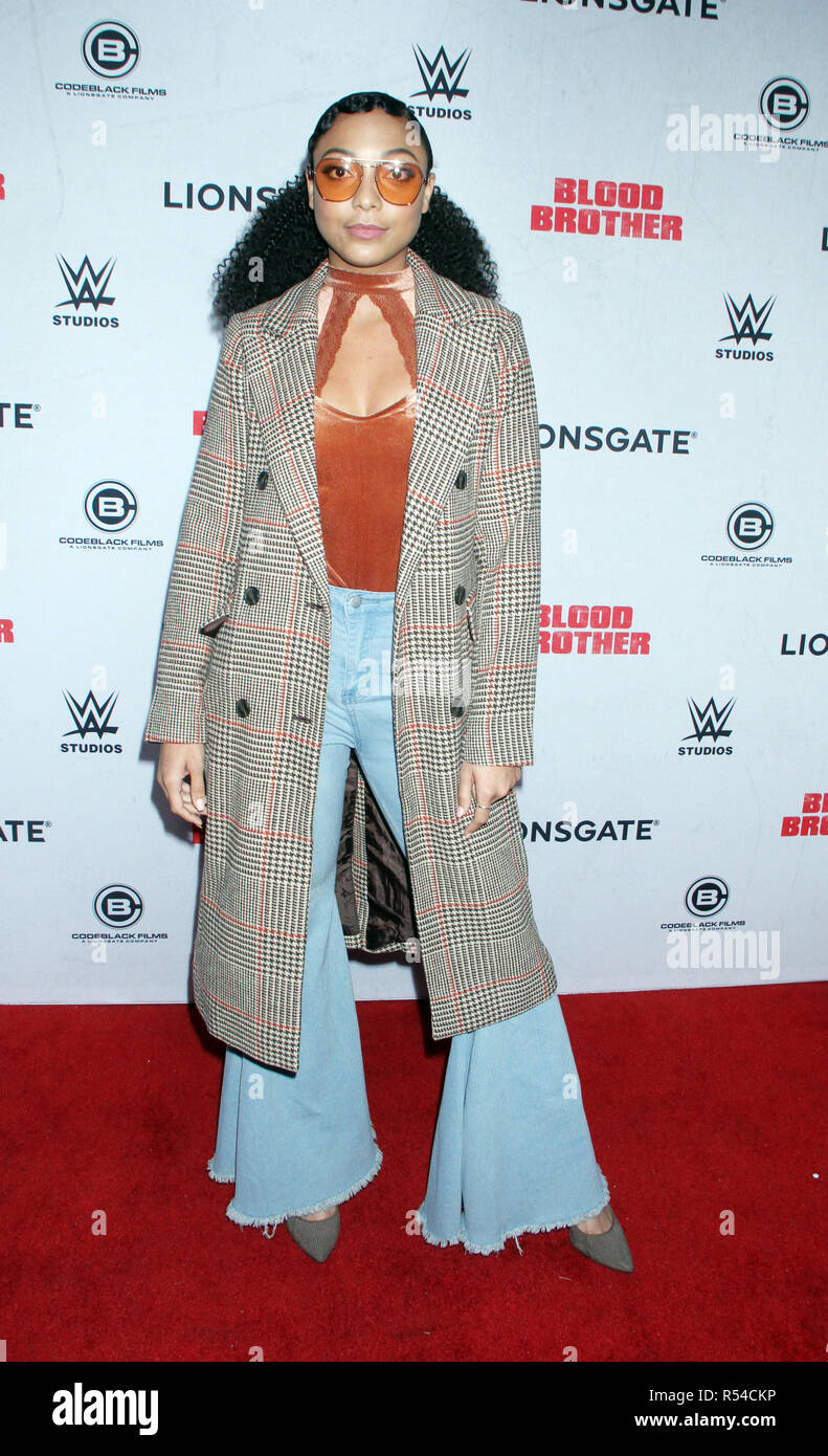 New York, USA. November 29, 2018Noelle Renee Bercy attend Lionsgate presents a special screening of Blood Brothers at Regal Battery Park Stadium 13 in New York. November 29, 2018 Credit:RW/MediaPunch Credit: MediaPunch Inc/Alamy Live News Stock Photo