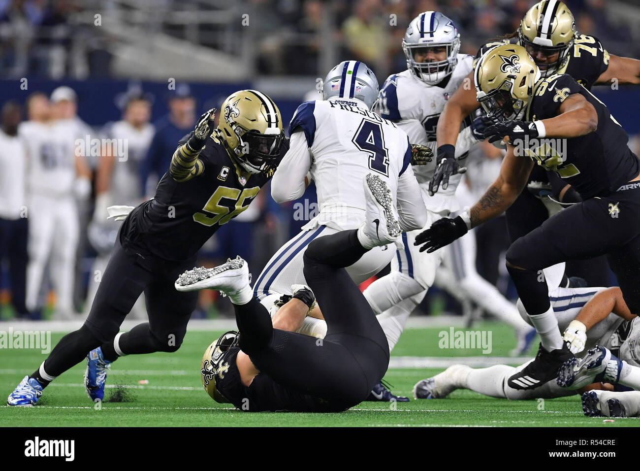 d1e777bf93c Arlington, Texas, USA. 29th Nov, 2018. Dallas Cowboys quarterback ...
